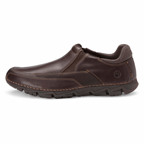 Rocsports Lite Slip On Men's Casual Dress Shoes in Brown